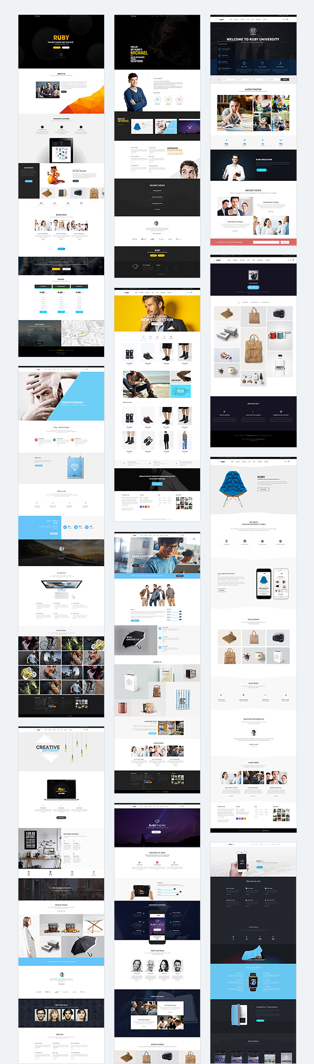 RUBY –  Business Multipurpose PSD Template - 6
