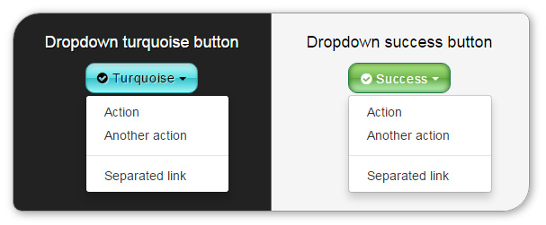 Delicious Bootstrap skin - dropdown buttons