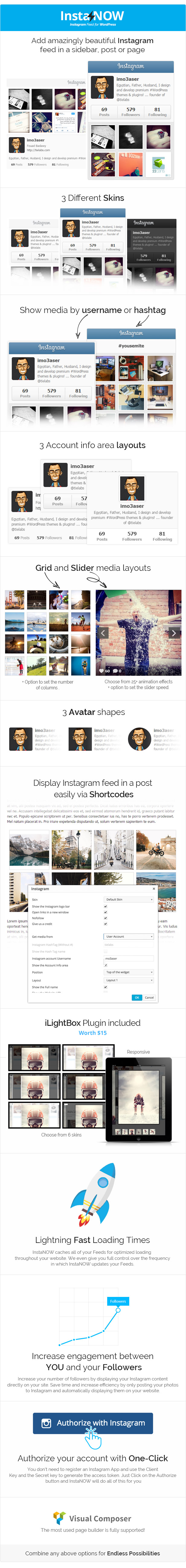 InstaNOW - Instagram Feed Plugin for WordPress