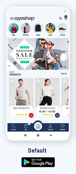 CiyaShop Native Android Application based on WooCommerce - 2