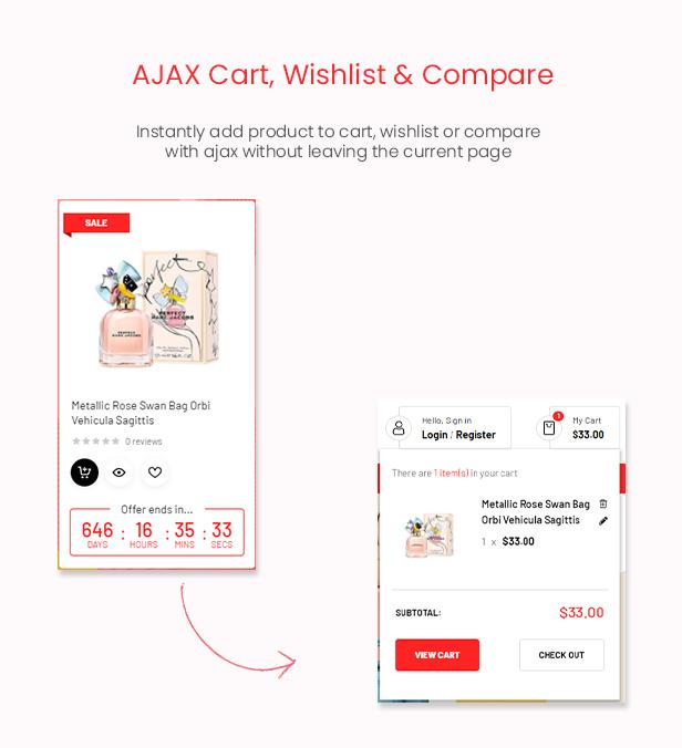 FlashMart - Multipurpose Elementor WooCommerce WordPress Theme - Ajax Cart