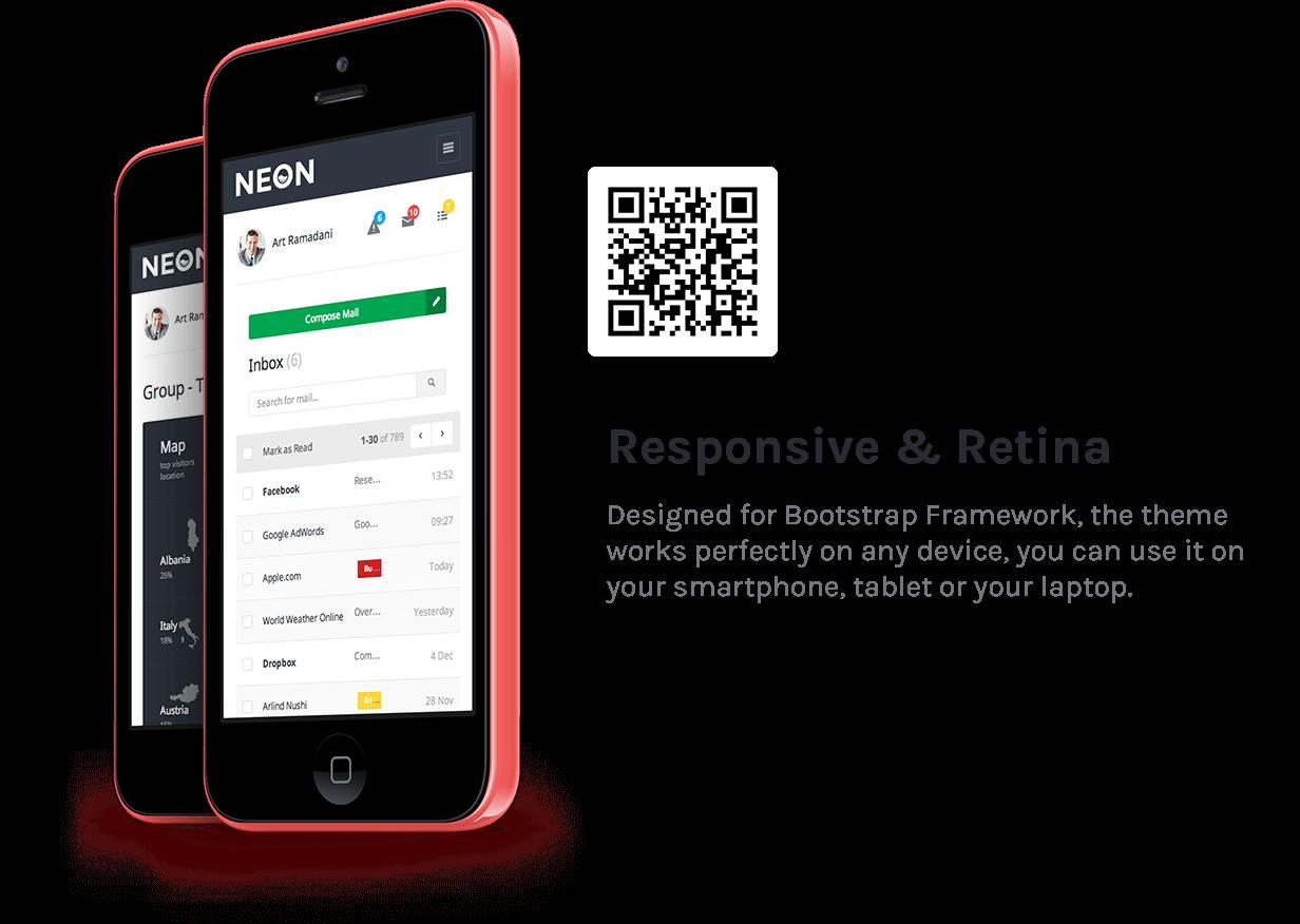 Neon - Bootstrap Admin Theme - 21