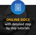 Online documentation with detailed step by step tutorials