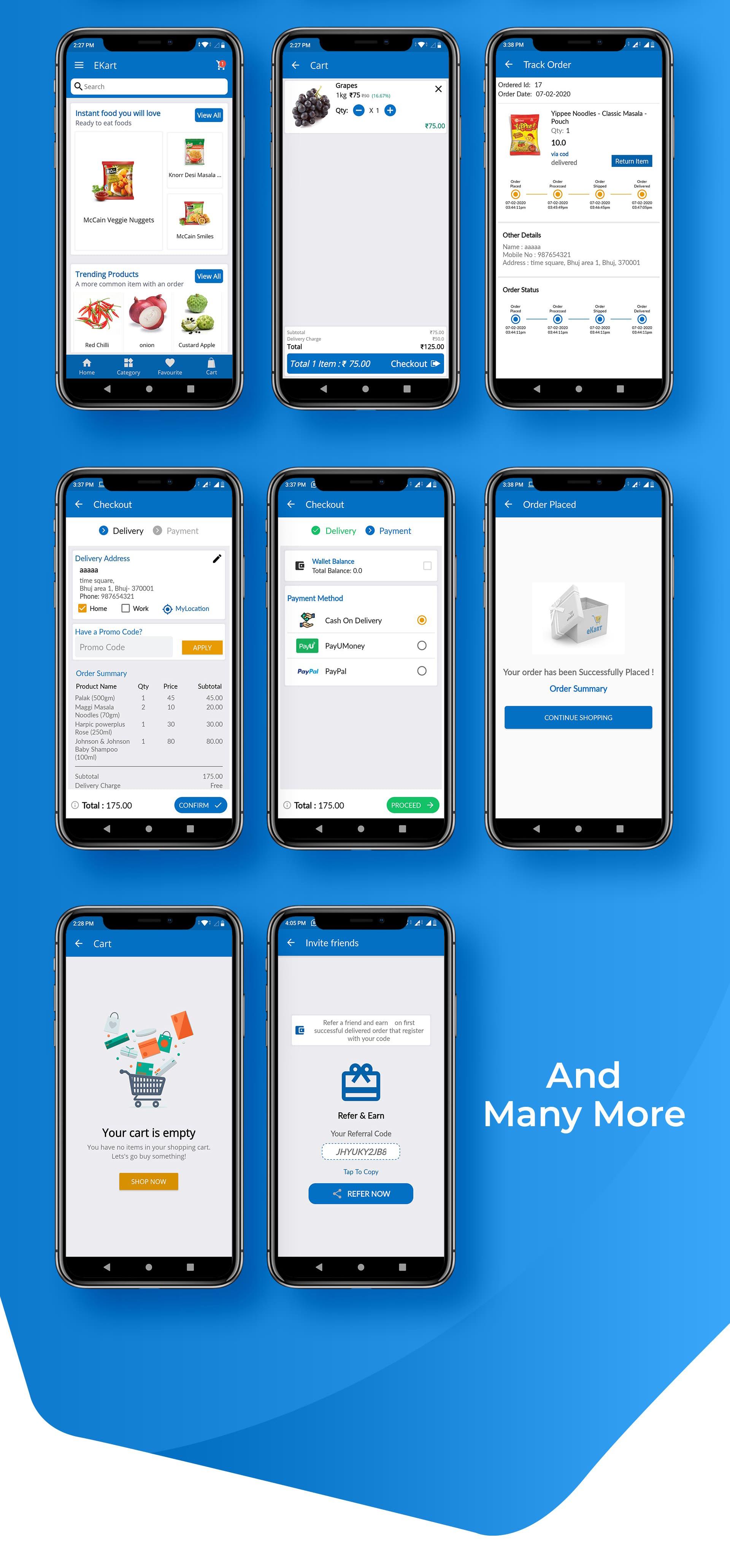 eKart - Android e-commerce app - 8