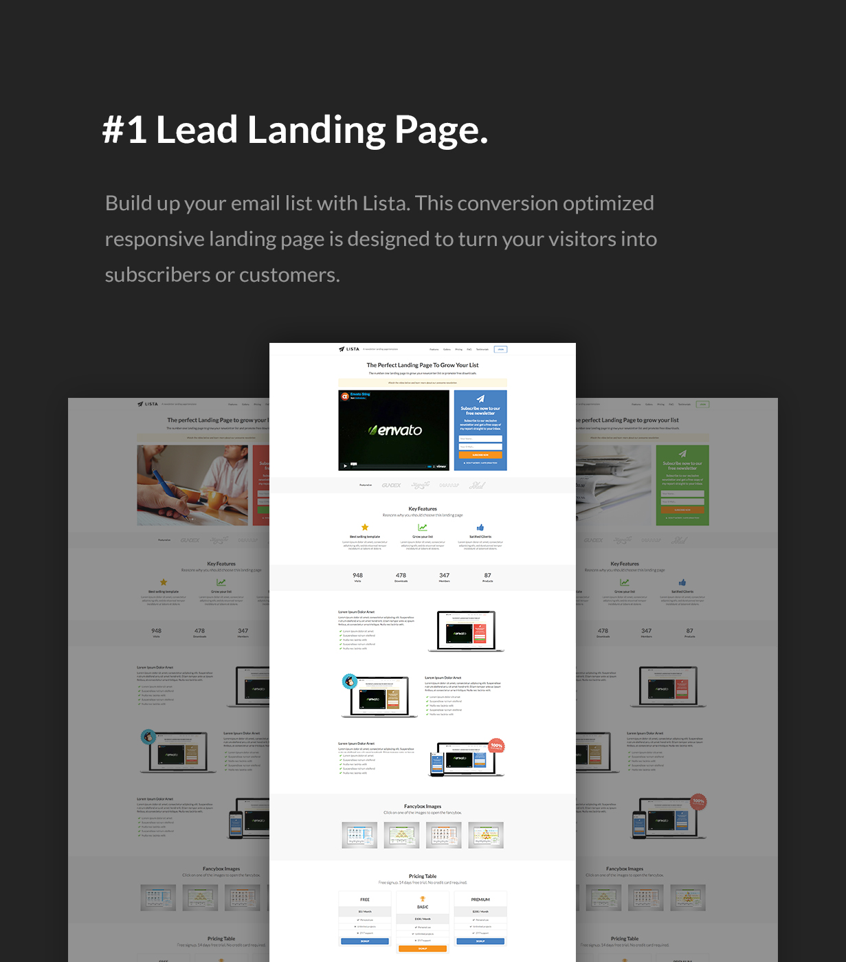 Lista - Newsletter Form Landing Page