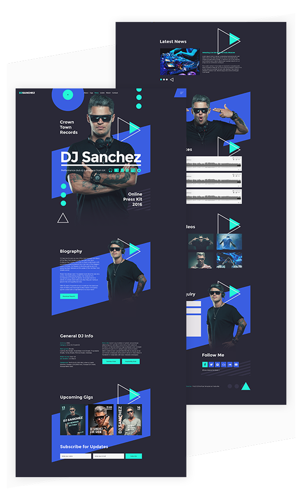 ProDJ - Creative DJ / Producer Site Muse Template by vinyljunkie ...
