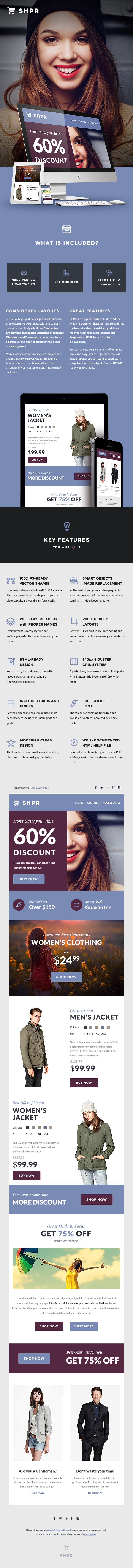 SHPR - E-commerce E-newsletter Template