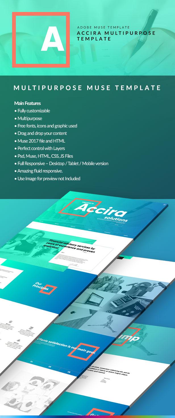 Accira Multipurpose Adobe Muse Template - 1