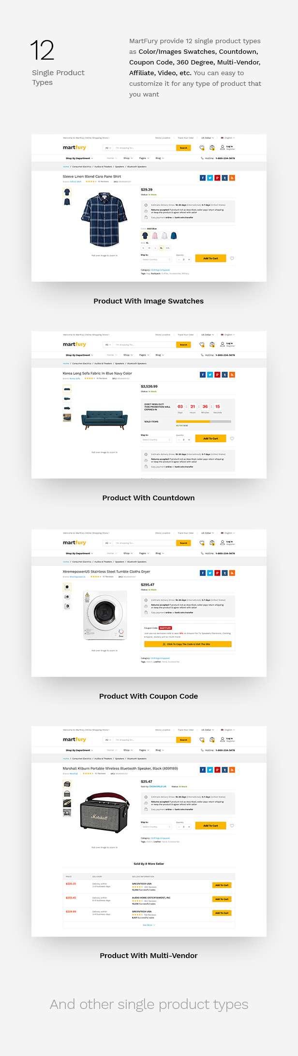 MartFury | Multi-Vendor & Marketplace eCommerce PSD Template - 19