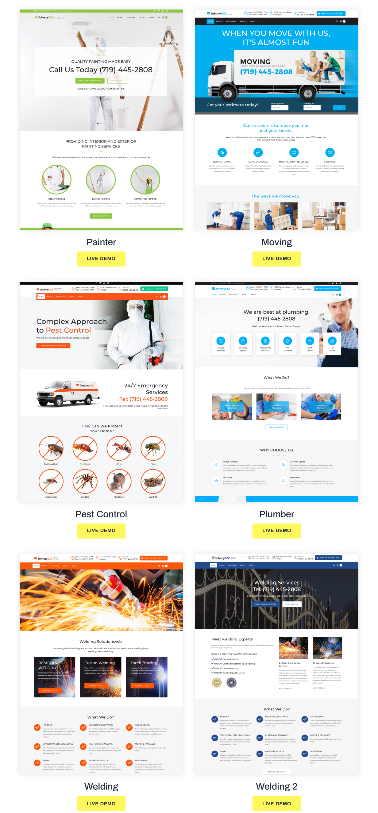 JohnnyGo - Handyman Service Elementor WordPress Theme