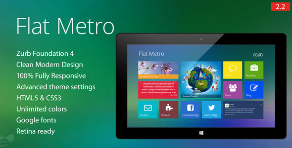 Flat Metro - Responsive WordPress Theme by Mymoun | ThemeForest