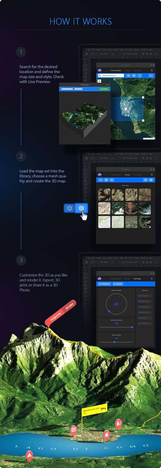 3D Map Generator - 3D Mapper - Photoshop Plug-in - 6
