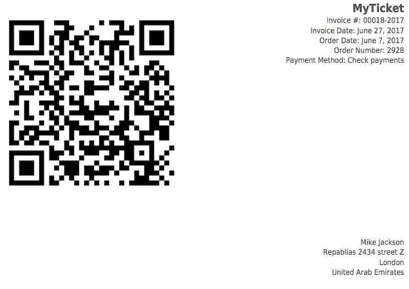 Ticket/Event QR-code PDF Scan -  WordPress Theme