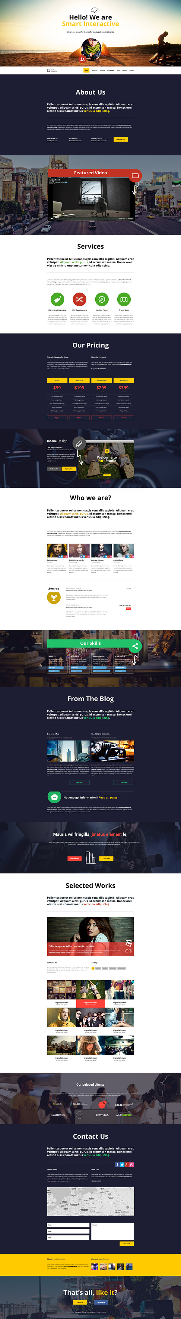 Smart Interactive HTML5 One Page Creative Parallax - 2