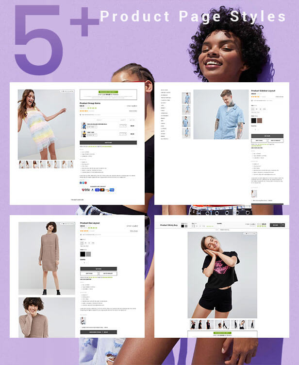 Shopify with 5 detail pages