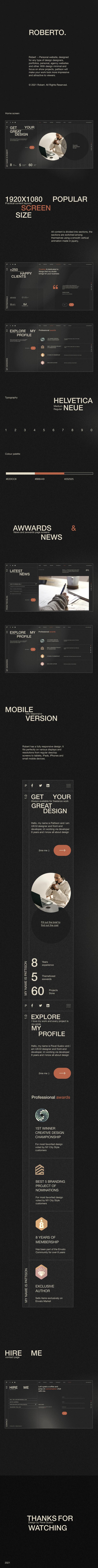 Roberto. - Onepage Horizontal Personal CV/Resume HTML Template - 4