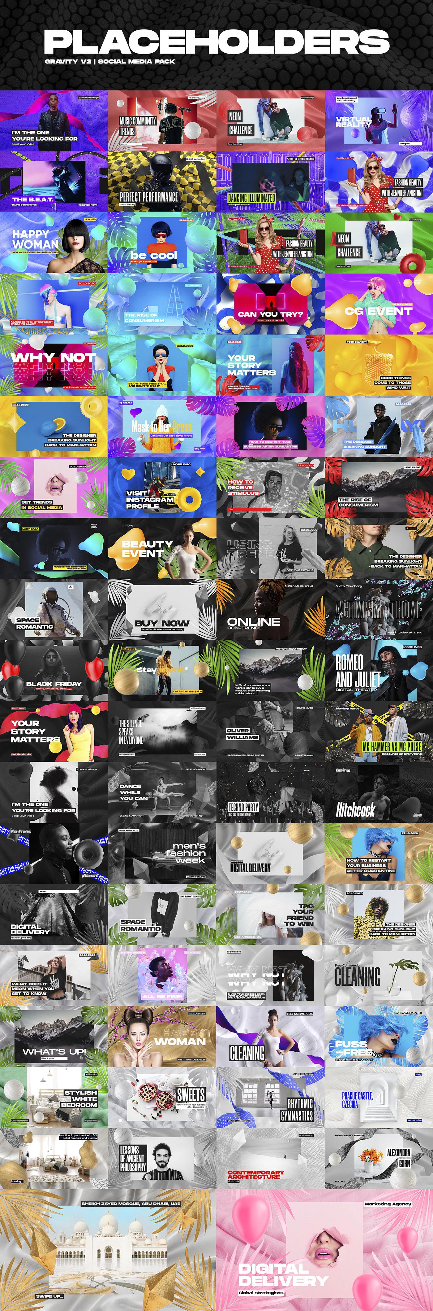 Gravity V2 | Social Media Pack - 1