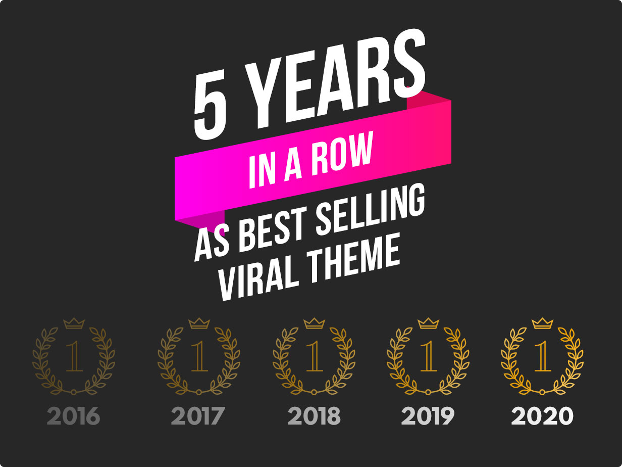5 years in a row as bet selling viral theme