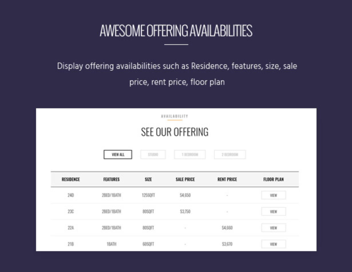 Skyview Complex 360 degree preview Single Property & Real Estate WordPress Themes