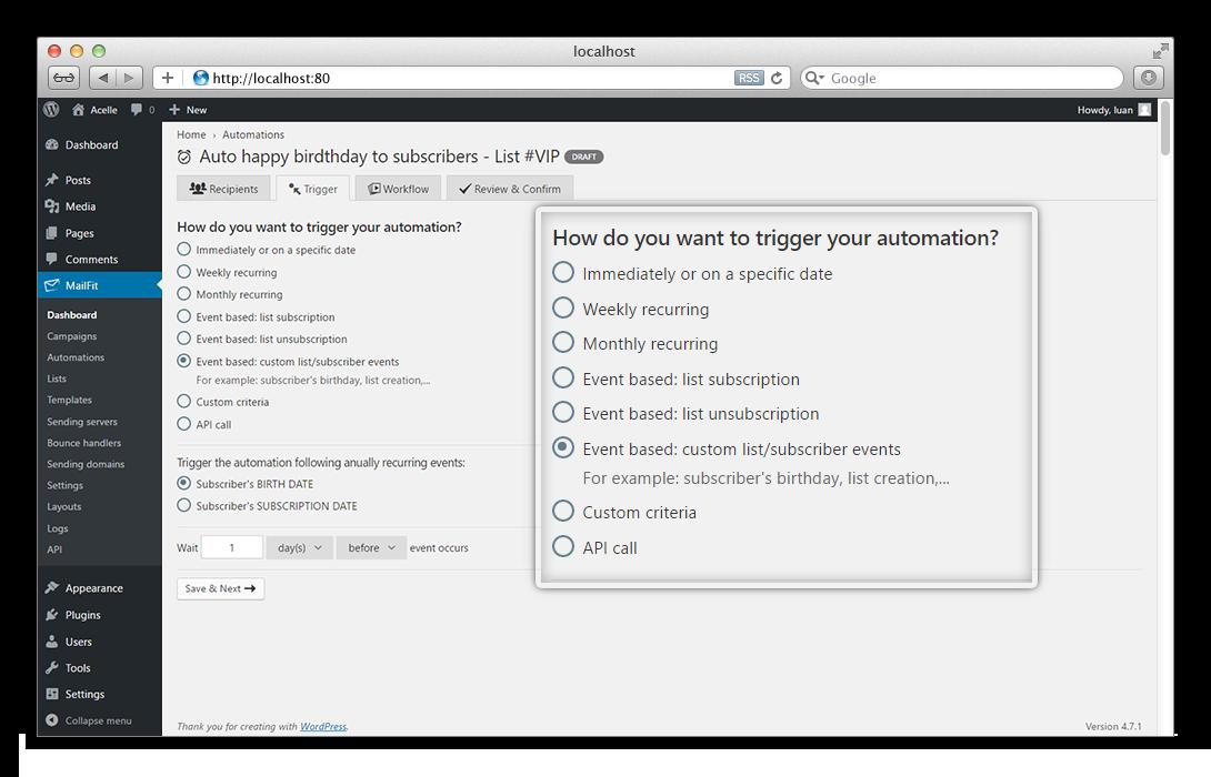 MailFit - Newsletter Plugin for Wordpress - 4