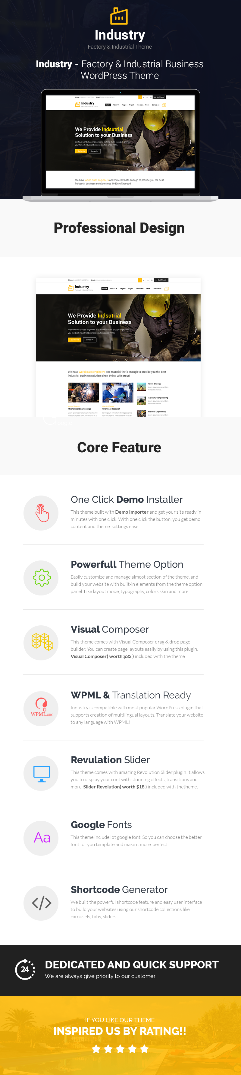 Industry - Factory & Industrial Business WordPress Theme - 1