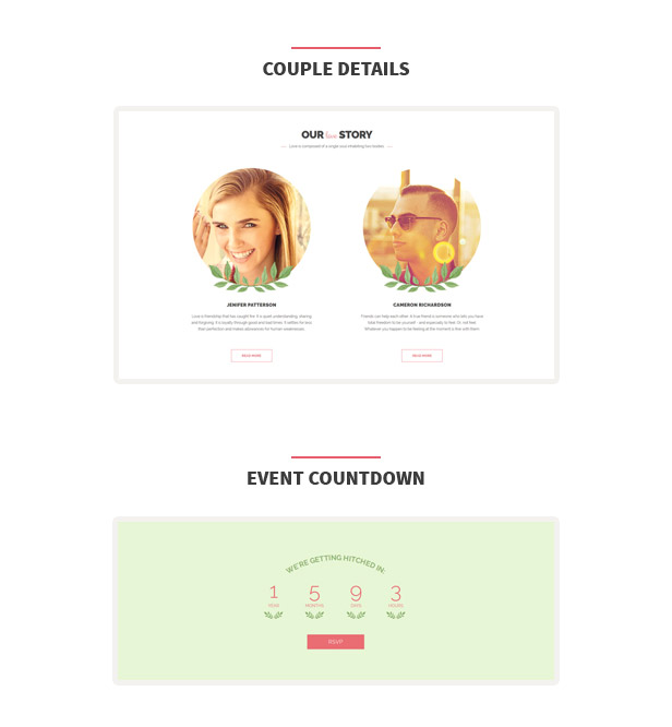 The Wedding Date HTML Template