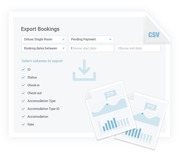 Export Bookings Data in CSV