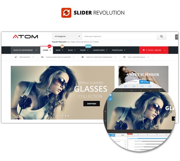 SW Atom - revolution slider