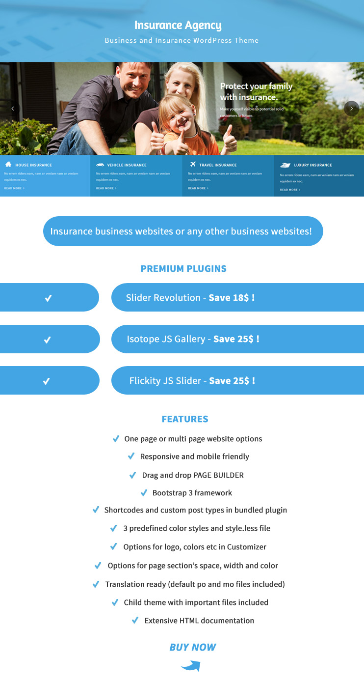 Insurance Agency - Business and Insurance WP Theme - 1