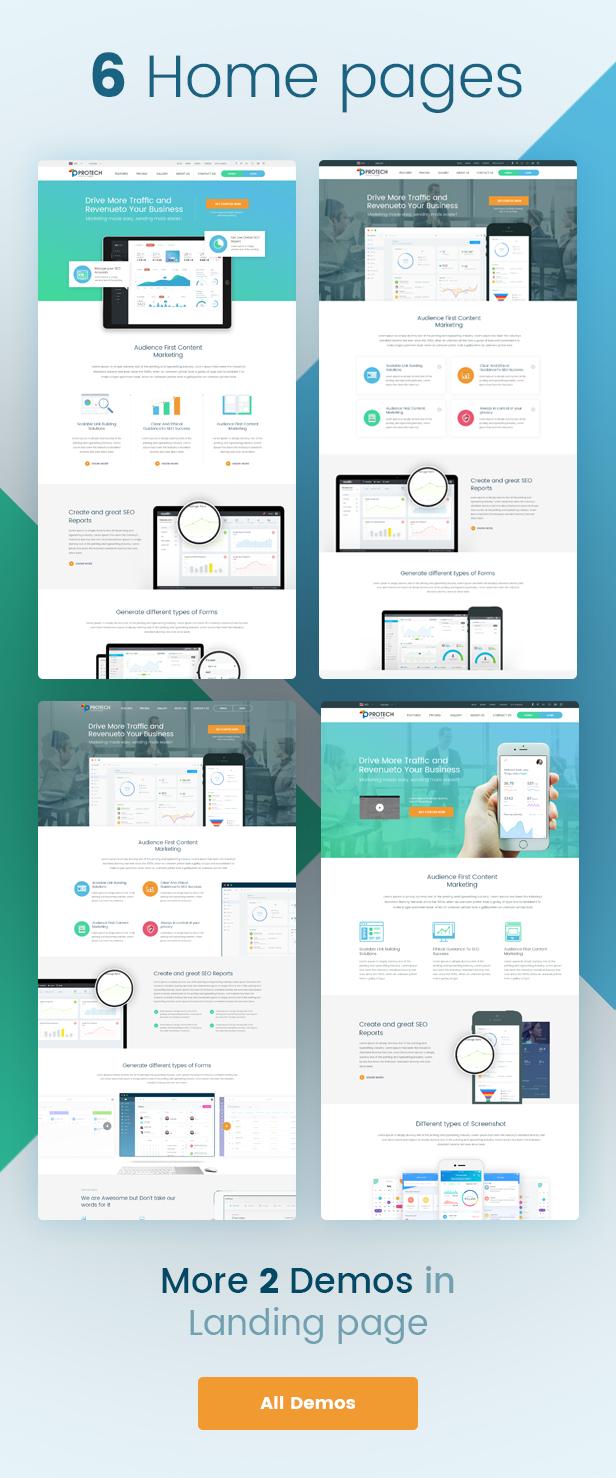 Protech SaaS -  SaaS, Software & WebApp Template - 4