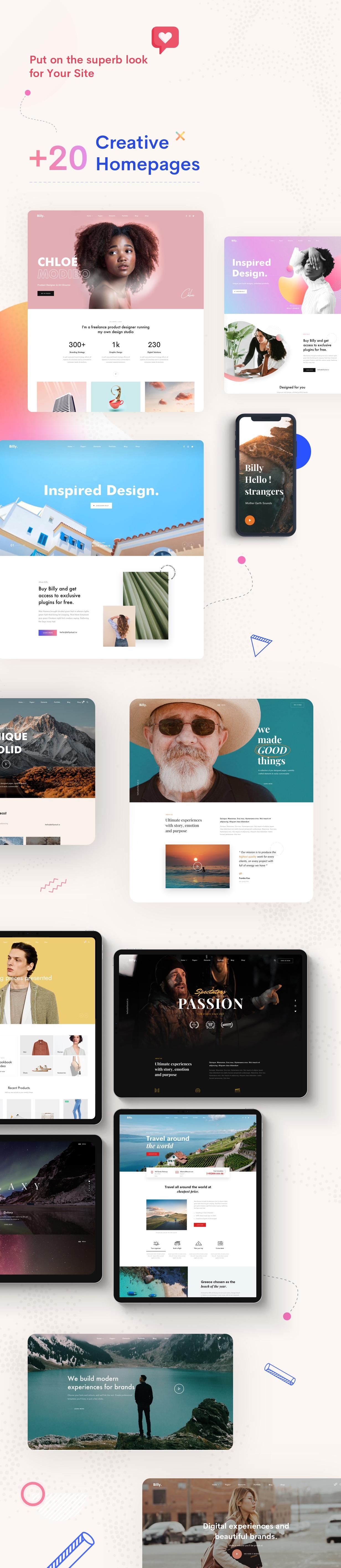 creative multipurpose homepage
