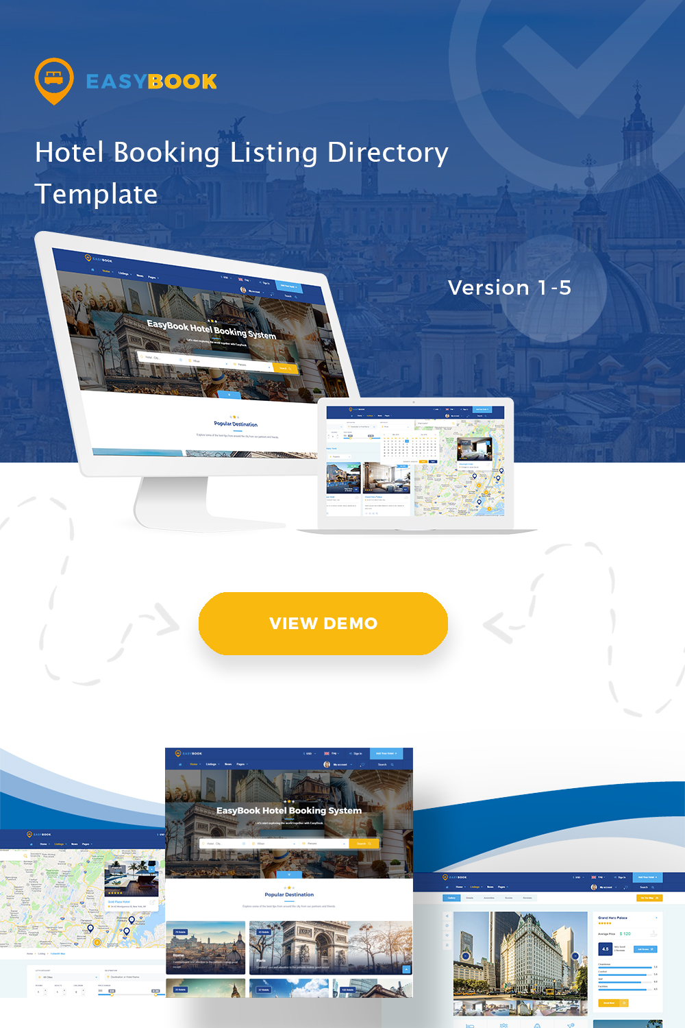 Easybook - Hotel Booking Directory Listing Template by kwst