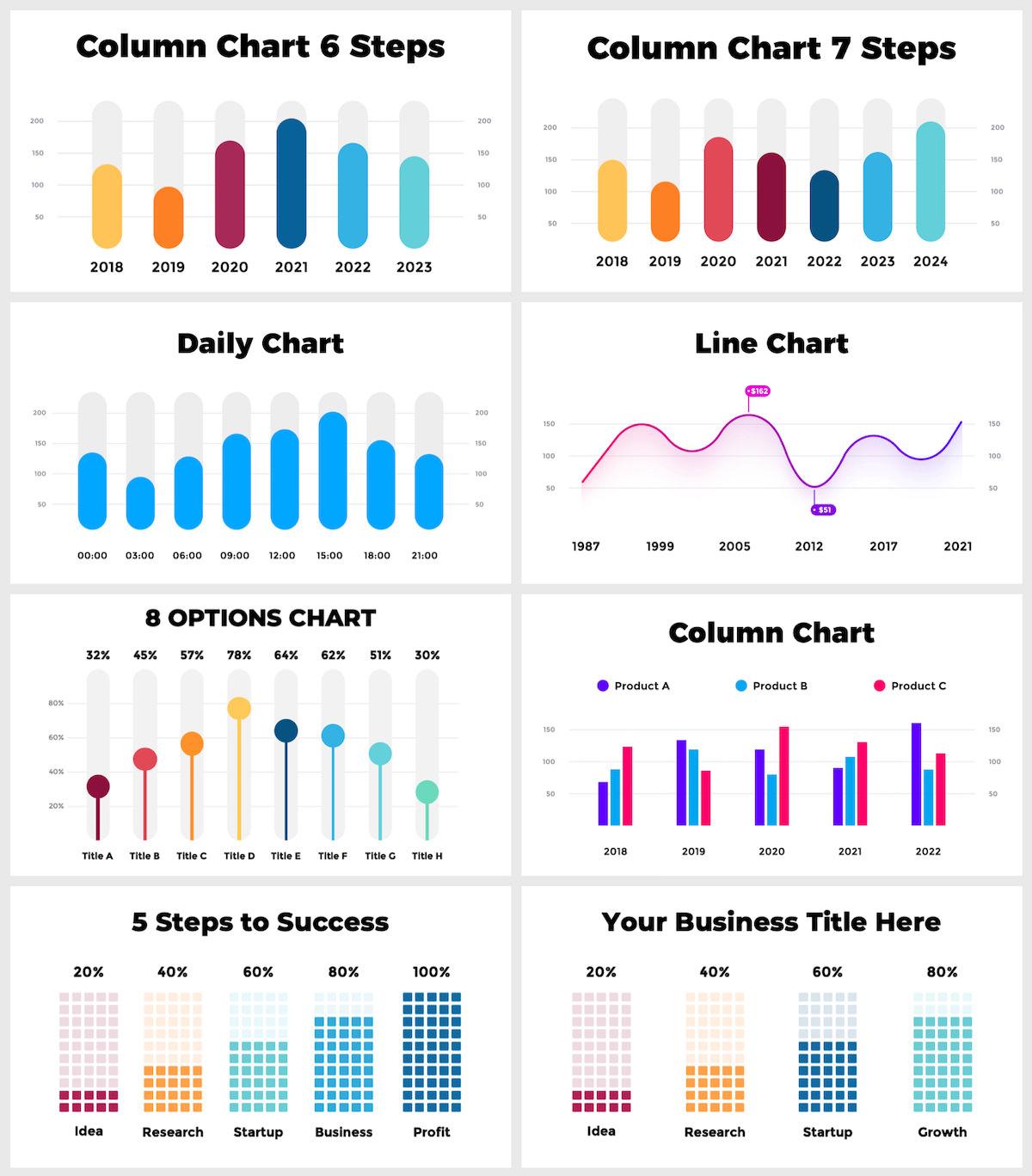 Huge Infographics Bundle! Lifetime Updates! PowerPoint, Photoshop, Illustrator. - 40
