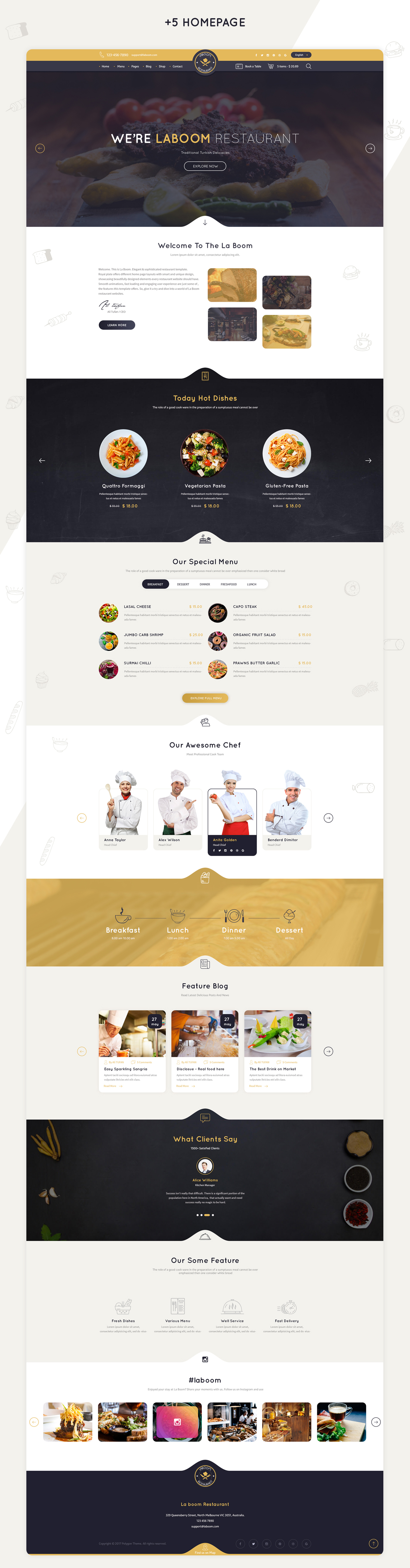 La Boom - Food & Restaurant Bistro WordPress Theme - 10