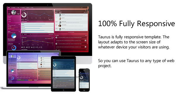 Taurus - Responsive Bootstrap Admin Template - 4