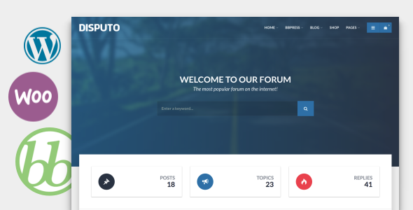 Disputo WordPress bbPress Forum Theme