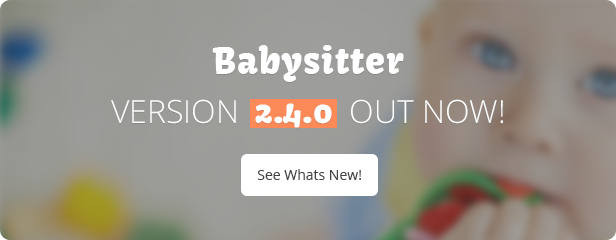 Update 2.4.0 - Babysitter WordPress Theme Responsive
