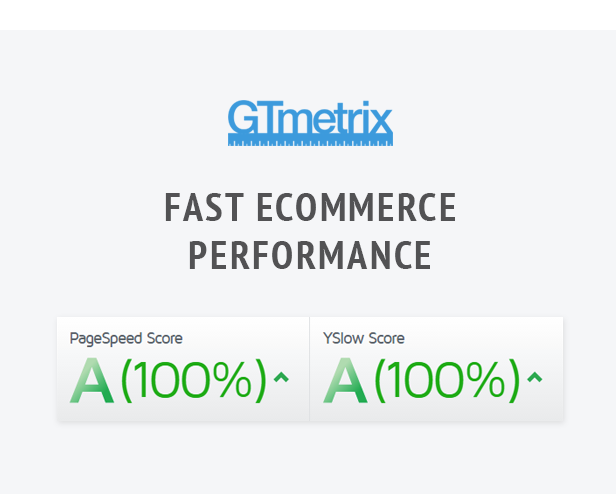 A/A 100%/100% maximum Performance Scores according to GTmterix