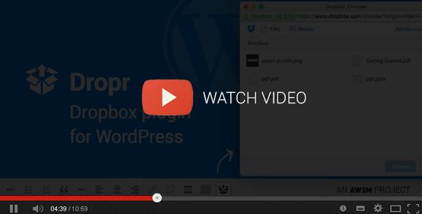 Dropr - Dropbox Plugin for WordPress - 4