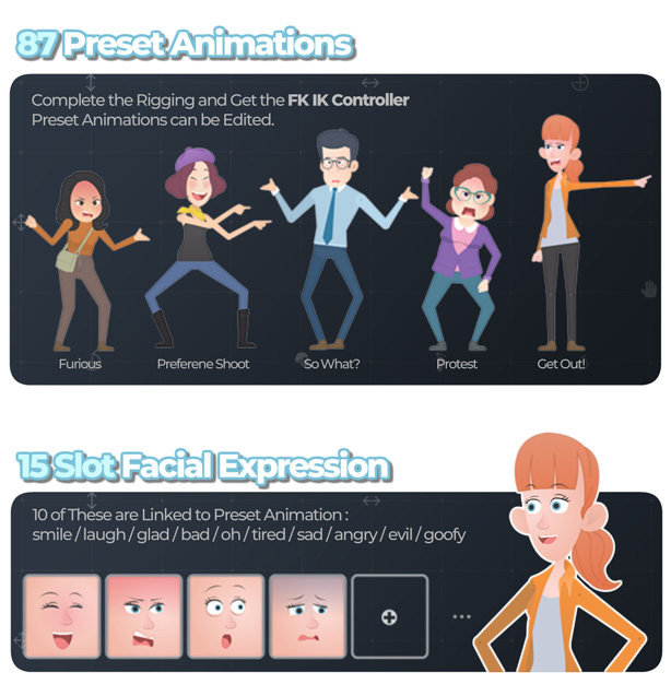 Character Rigging Mock Up Animations - 3