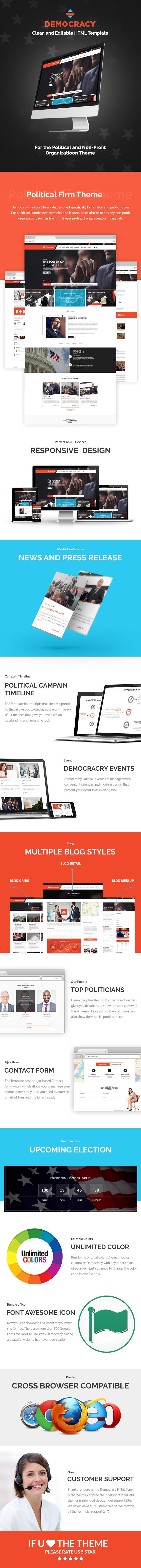 democracy political html theme