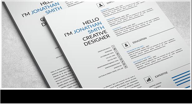 Clean and Minimal Resume Set - 5