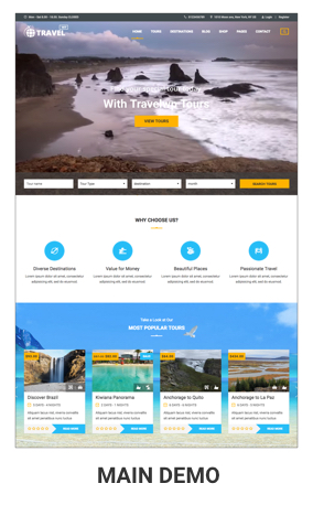 Travel WP - Tour & Travel WordPress Theme for Travel Agency and Tour ...