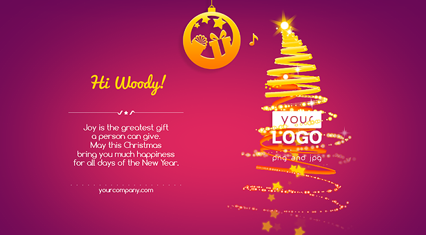 Christmas Card Tree of Lights - 6