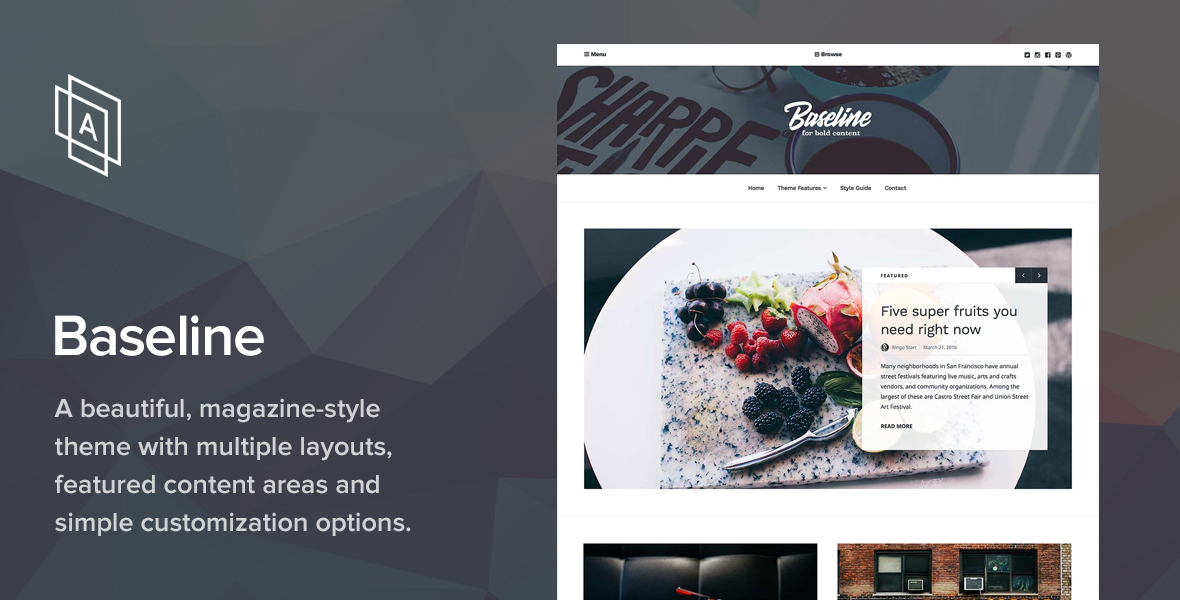Baseline magazine WordPress theme