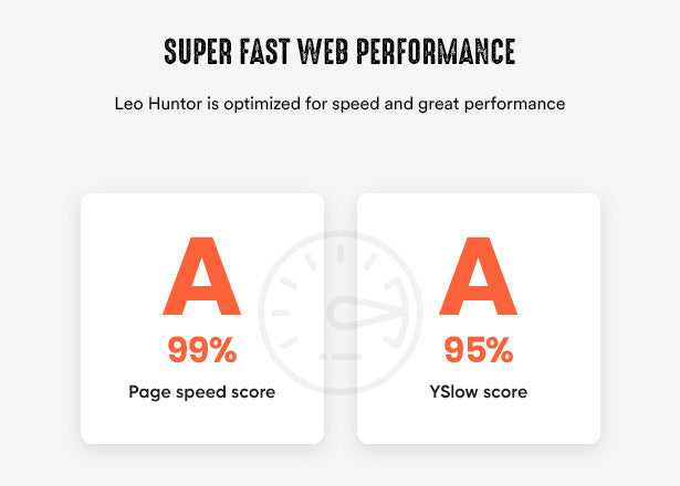 Super Fast Web Performance Leo Huntor is optimized for speed and great performance