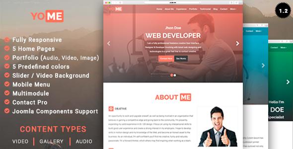 YoMe - Multipurpose Resume Joomla Template - Joomla CMS Themes