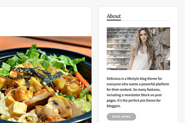 Delicious tumblr theme by themelantic themeforest with some description text that introduces people to your blog let them get to know the person behind the story and encourage them to get in touch forumfinder Images