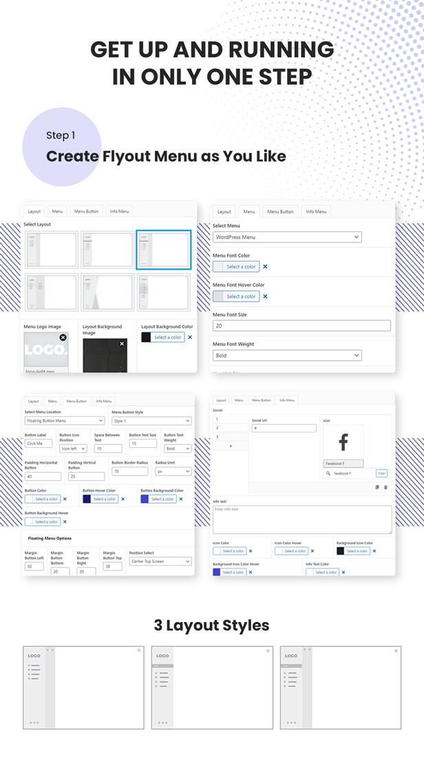 Vertical Slide Menu WordPress Plugin - Flyout Menu Awesome - 4