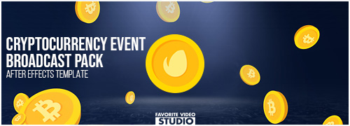 Cryptocurrency Event Broadcast Pack After Effects Template